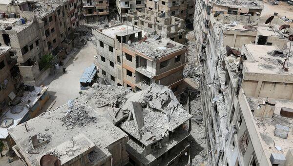 Zburzone domy w syryjskiej Dumie - Sputnik Polska