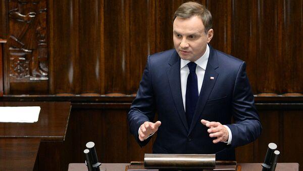 Nowy prezydent Polski Andrzej Duda - Sputnik Polska
