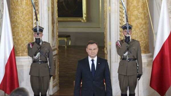 Inauguracja nowego prezydenta Polski Andrzeja Dudy w Zamku Królewskim w Warszawie - Sputnik Polska