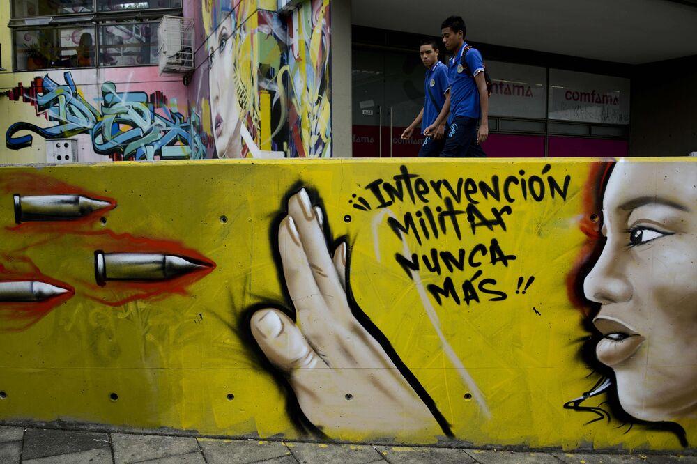 Graffiti w Medellínie, Kolumbia