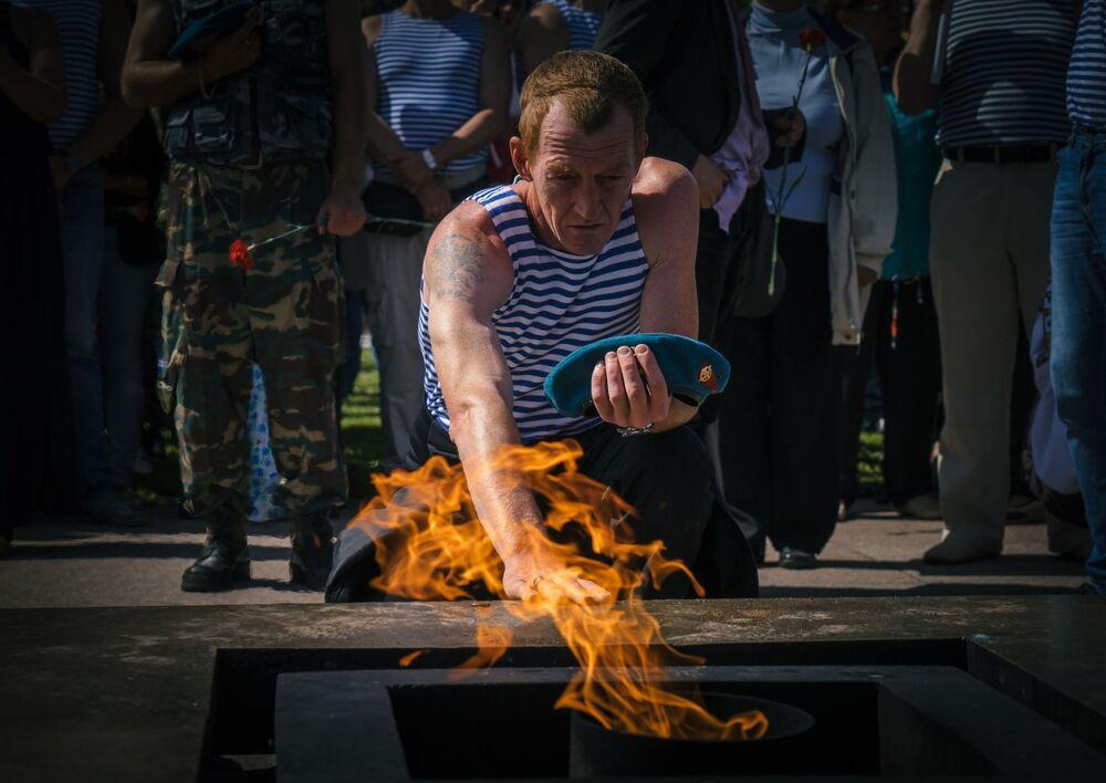 Obchody Dnia Wojsk Powietrznodesantowych w Petersburgu