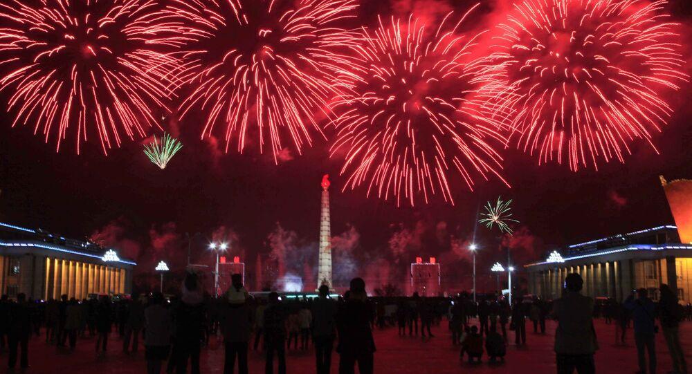 Uroczystości w Pjongjangu