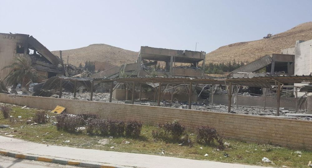 Skutki ostrzału koalicji USA w Syrii, Damaszek