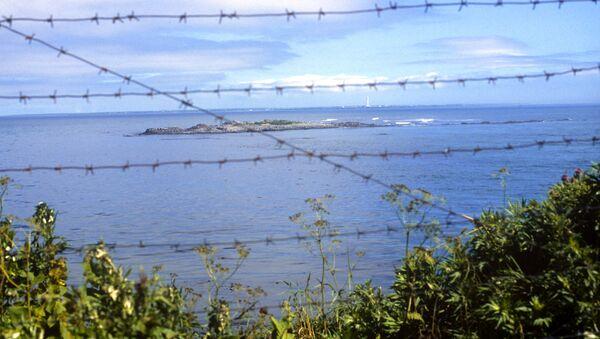 Widok na cieśninę Sowiecką na Pacyfiku dzielącą Rosję od Japonii - Sputnik Polska