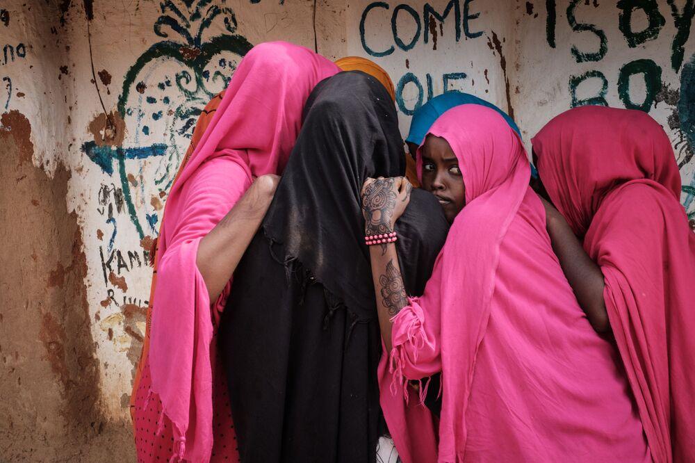 Somalijskie kobiety w ośrodku dla uchodźców Dadaab w Kenii