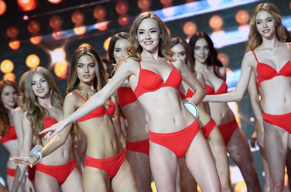 """Występ finalistek konkursu """"Miss Rosji 2018"""" w sali koncertowej """"Barwicha"""""""