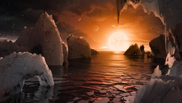 Nowa planeta odkryta w systemie TRAPPIST-1, wizualizacja - Sputnik Polska