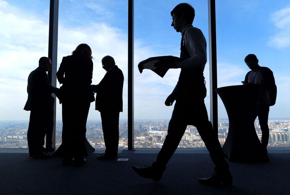 Najwyższy plac widokowy w Europie, który znajduje się na 88 piętrze kompleksu biznesowego Moskwa city