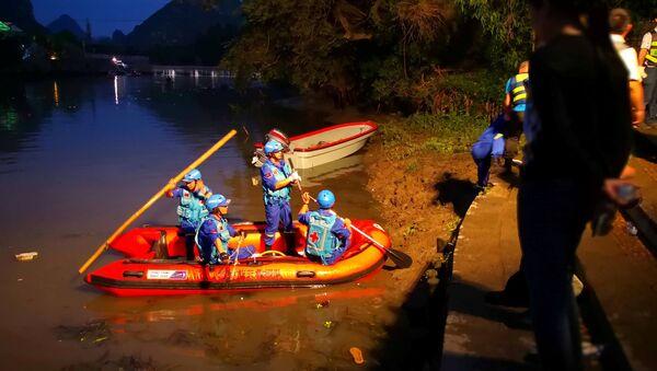 Do tragedii doszło podczas treningu na jednym z dopływów rzeki Gui Jiang w południowych Chinach w pobliżu miasta Guilin w autonomicznym regionie Kuangsi - Sputnik Polska