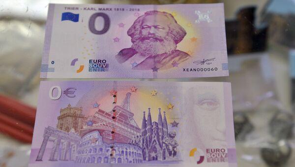 """Banknoty o nominale """"0"""" euro pojawiły się w Niemczech - Sputnik Polska"""