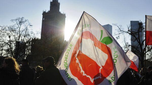 Protesty rolników w Polsce przeciwko sankcjom - Sputnik Polska