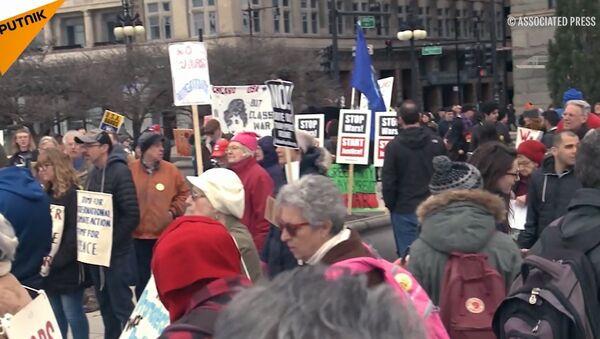 Protesty w USA - Sputnik Polska