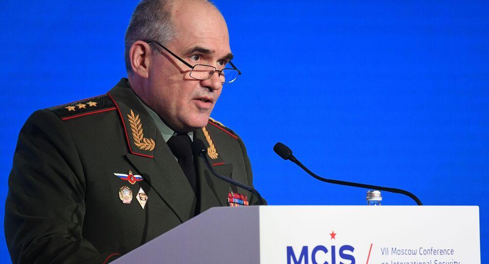 Szef Głównego Zarządu Operacyjnego Sztabu Generalnego Sił Zbrojnych Rosji generał Siergiej Rudskoj