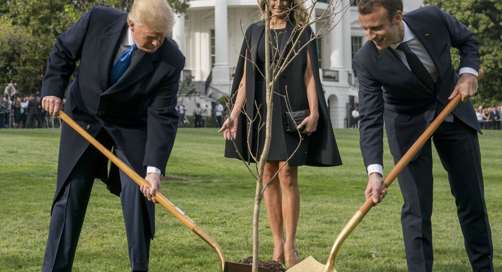Melania Trump, Donald Trump i Emmanuel Macron