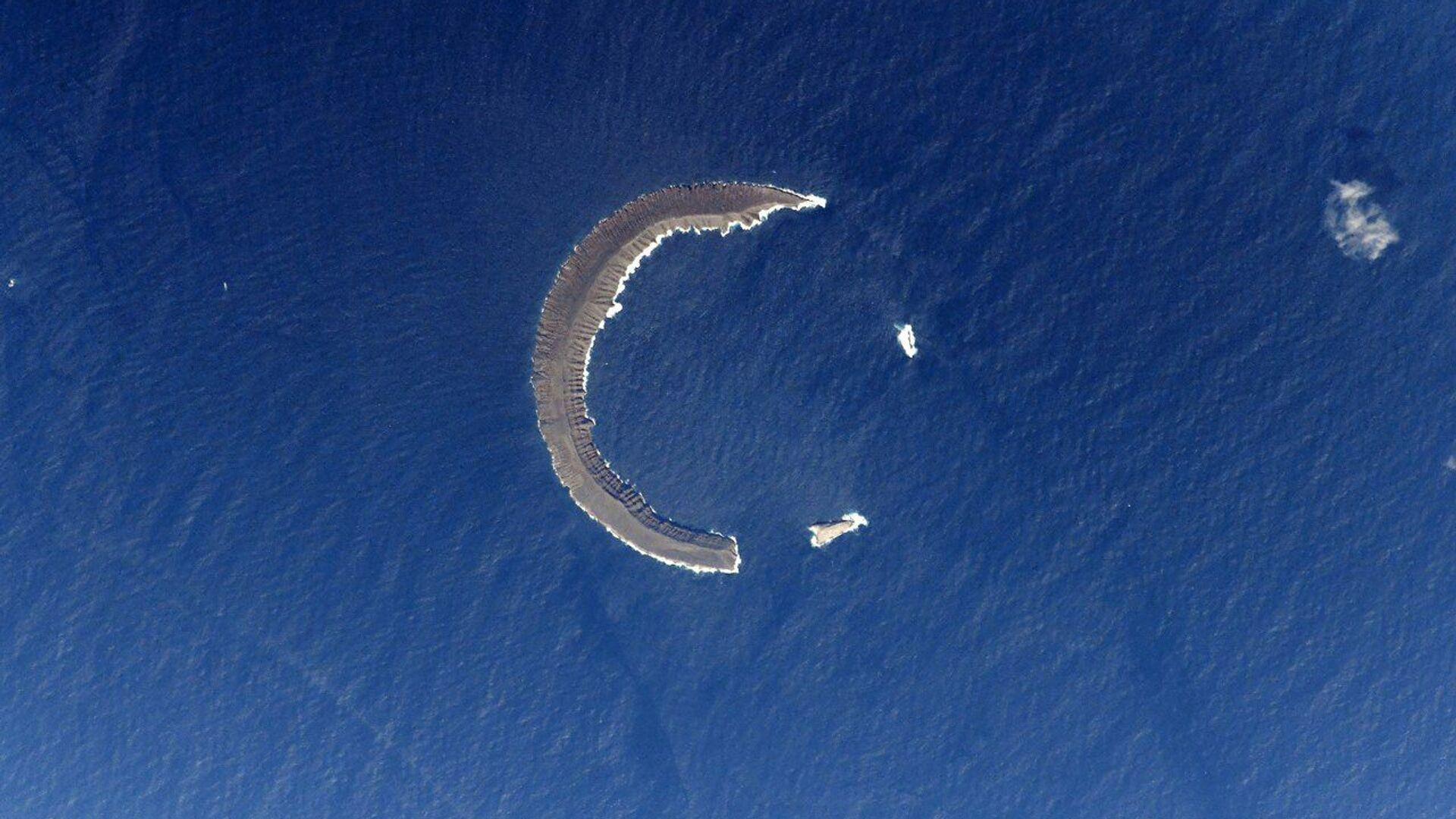 Tortuga – wyspa na Morzu Karaibskim widziana z MSK - Sputnik Polska, 1920, 10.08.2021
