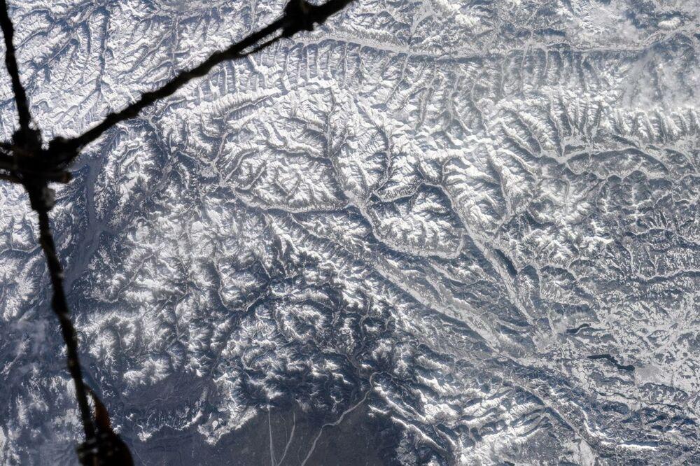 Włoskie Alpy widziane z kosmosu