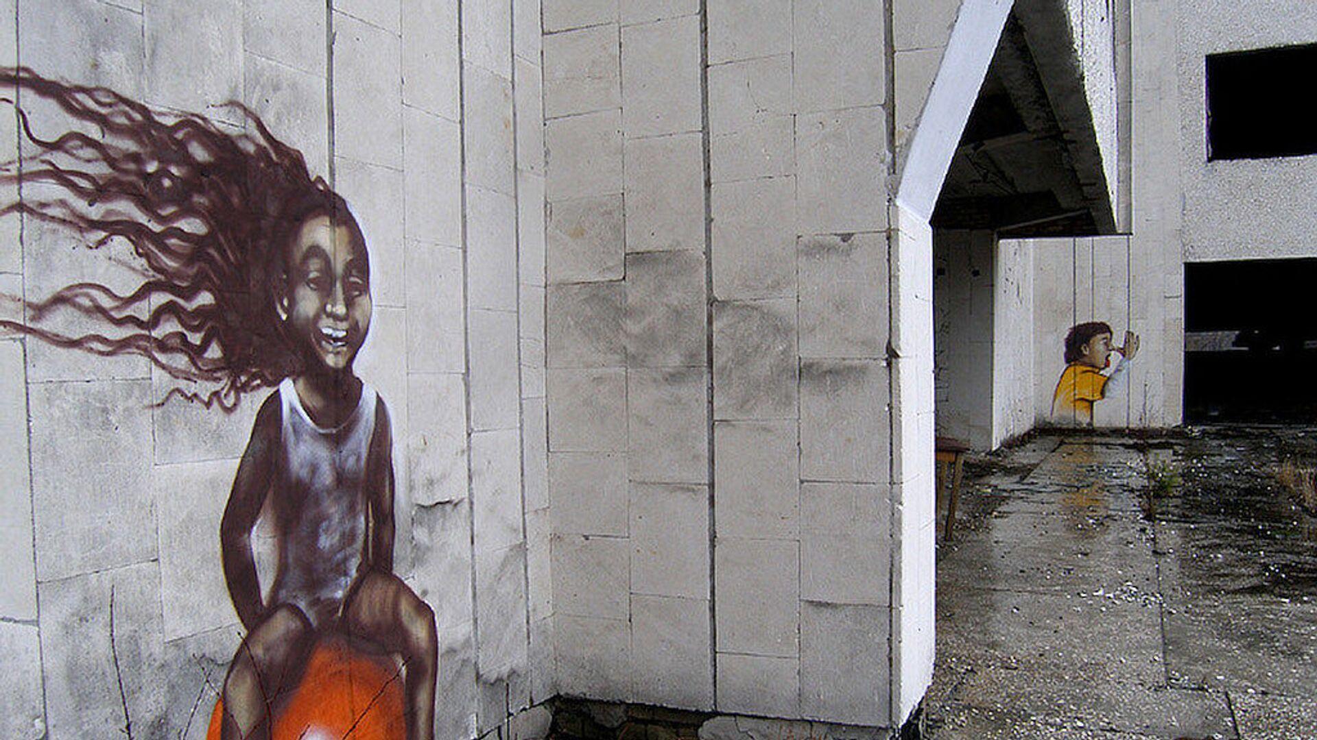 Graffiti w strefie elektrowni jądrowej w Czarnobylu - Sputnik Polska, 1920, 02.07.2021