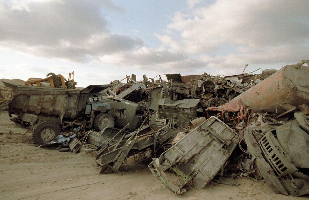 Cmentarzysko napromieniowanych pojazdów w Czarnobylu