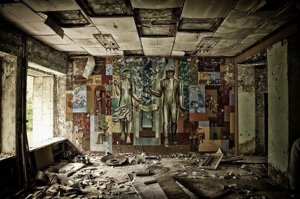 Wnętrze budynku, Prypeć, Ukraina