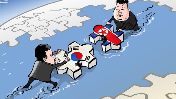 Historyczne spotkanie przywódców Korei Północnej i Południowej - Sputnik Polska