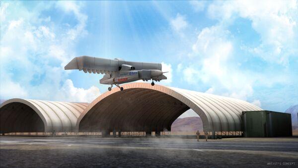 Graficzne wyobrażenie projektu samolotu pionowego startu i lądowania LightningStrike VTOL X-Plane - Sputnik Polska