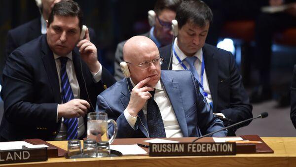 Stały przedstawiciel Rosji przy ONZ Wailij Nebenzia - Sputnik Polska