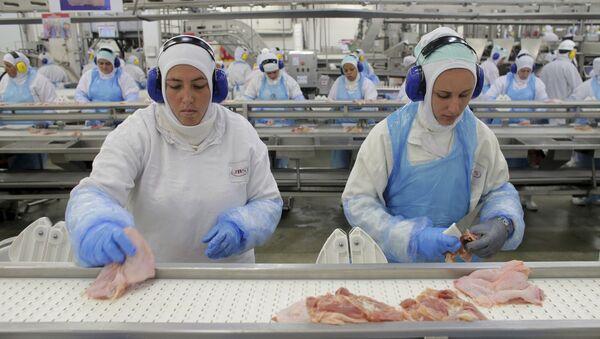 Zakład przetwórstwa mięsa w Brazylii - Sputnik Polska