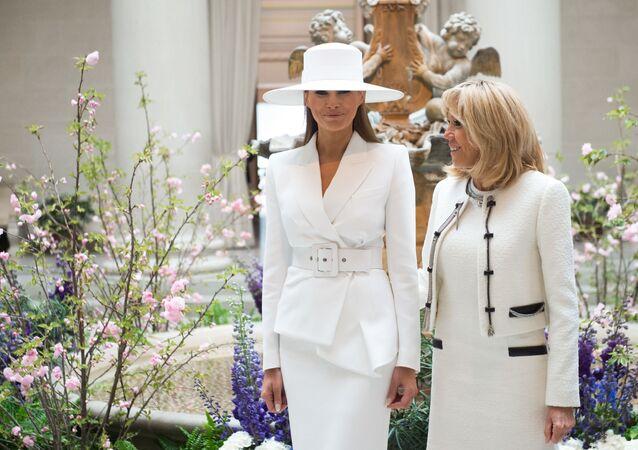 Melania Trump i Brigitte Macron
