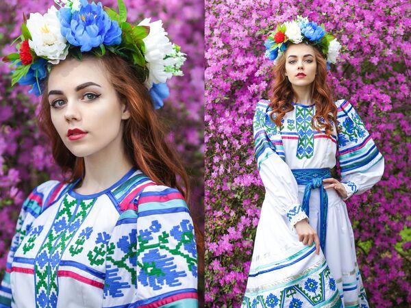 Uczestniczka konkursu piękności Królowa wiosna Białorusi Julia Taran - Sputnik Polska