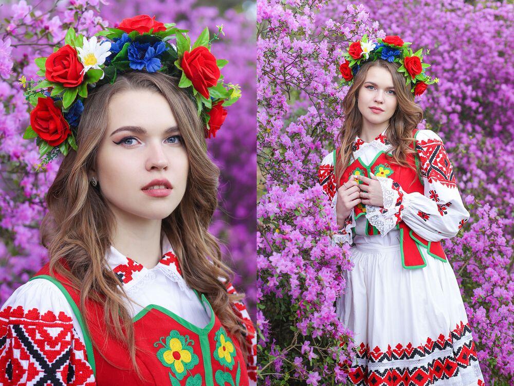Uczestniczka konkursu piękności Królowa wiosna Białorusi  Weronika Adamowicz