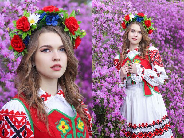 Uczestniczka konkursu piękności Królowa wiosna Białorusi  Weronika Adamowicz - Sputnik Polska
