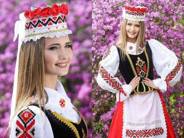 Uczestniczka konkursu piękności Królowa wiosna Białorusi Maria Sołowjowa - Sputnik Polska