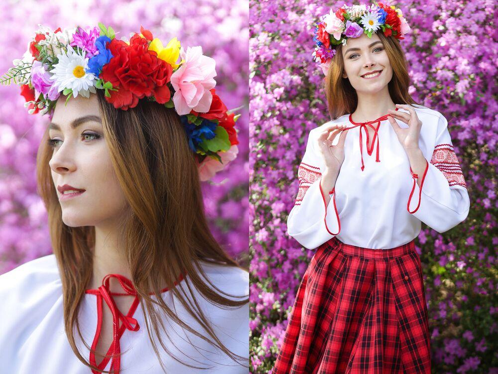 Uczestniczka konkursu piękności Królowa wiosna Białorusi Jelizawieta Swiatogor