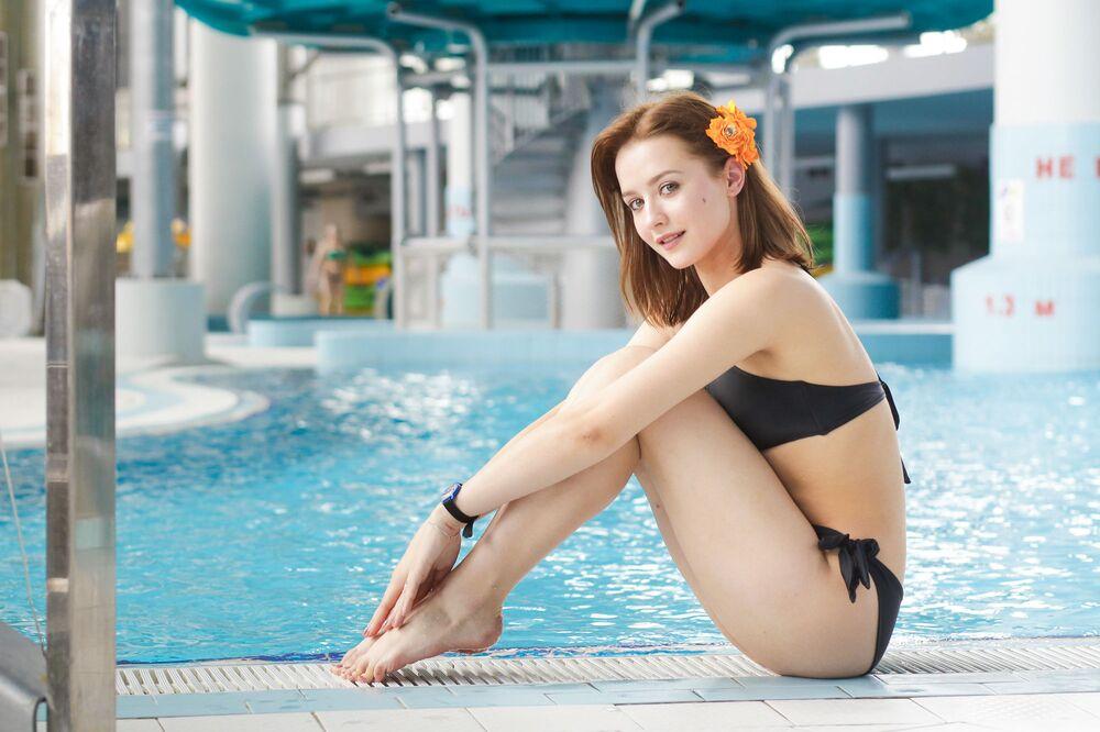 Uczestniczka konkursu piękności Królowa wiosna Białorusi Jekatierina Debiełaja