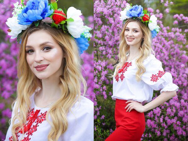 Uczestniczka konkursu piękności Królowa wiosna Białorusi Lubow Grinkiewicz - Sputnik Polska
