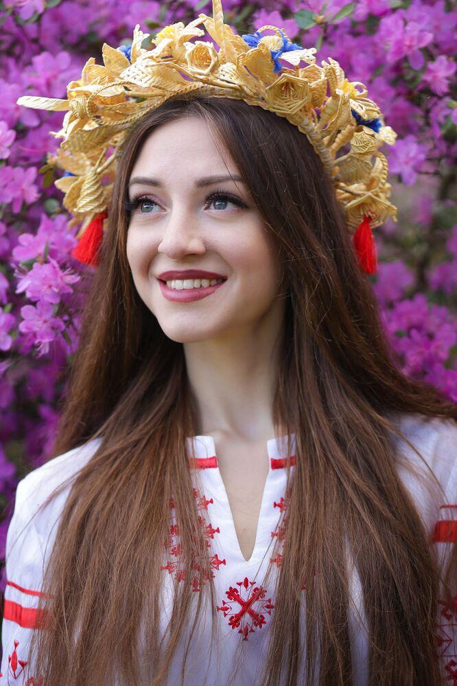 Uczestniczka konkursu piękności Królowa wiosna Białorusi Anna Jankowa