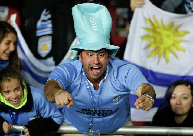 Kibic z Urugwaju