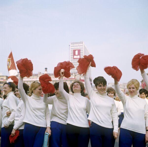 Parada Sportowa na Placu Czerwonym w Moskwie, 1 maja 1969 r. - Sputnik Polska