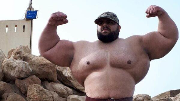 "27-letni Sajad Garibi, zwany ""irańskim Hulkiem"" - Sputnik Polska"
