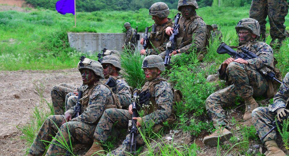 Amerykańscy żołnierze w Korei Południowej