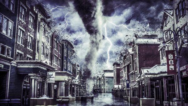 Artystyczna wizja tornada w mieście - Sputnik Polska