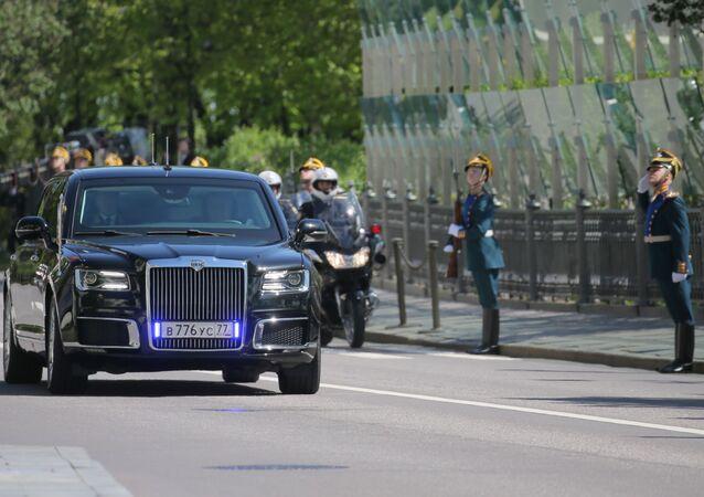 Samochód Aurus konwoju prezydenta Federacji Rosyjskiej