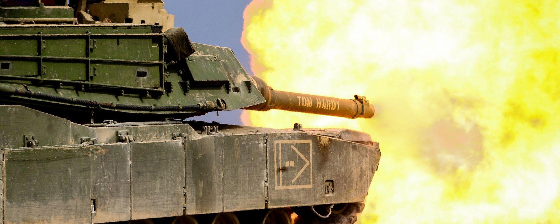"""Amerykański czołg M1 """"Abrams"""" podczas ćwiczeń wojskowych - Sputnik Polska, 1920, 02.08.2020"""
