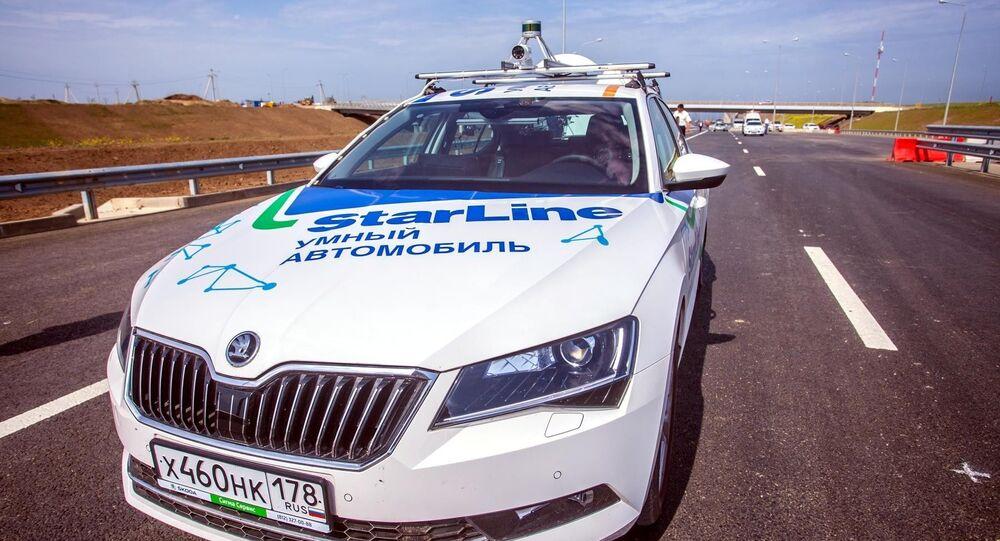 Zakończenie testu krajowych bezzałogowych pojazdów na podejściu drogowym do Mostu Krymskiego w Kraju Krasnodarskim