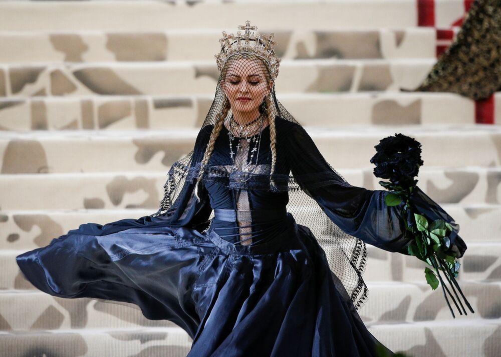 Piosenkarka Madonna na otwarciu Met Gala 2018