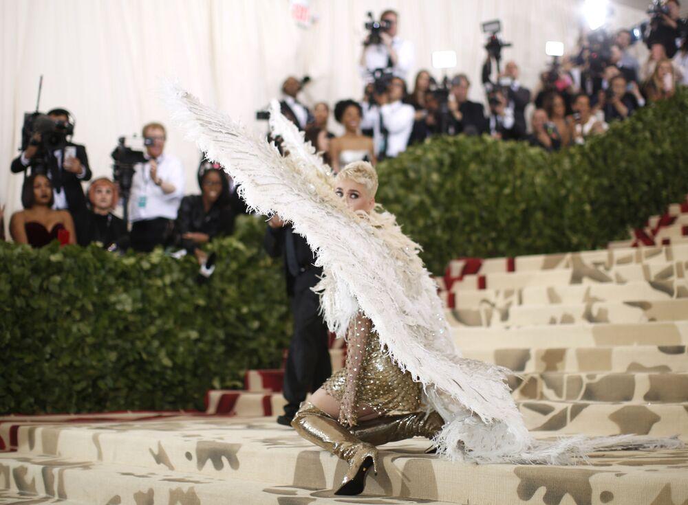 Katy Perry na otwarciu Met Gala 2018