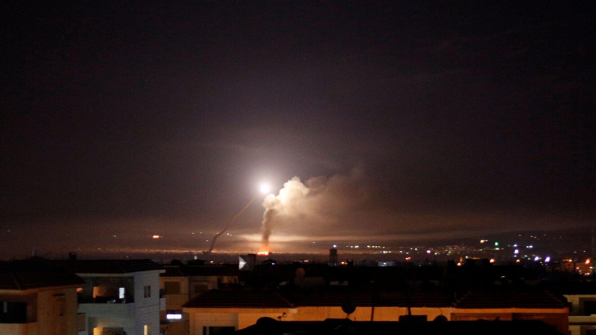 Widok z Damaszku na ostrzał rakietowy - Sputnik Polska, 1920, 28.06.2021