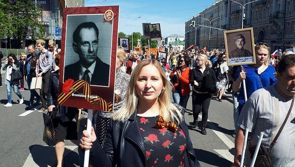 Nieśmiertelny Pułk, Moskwa 2018 - Sputnik Polska