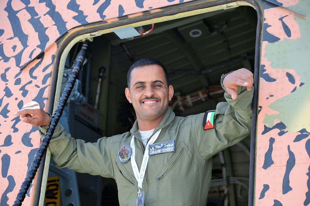 Ciężki rosyjski helikopter Mi-26T2 na wystawie Specjalnych Sił Operacyjnych SOFEX-2018 w Jordanii