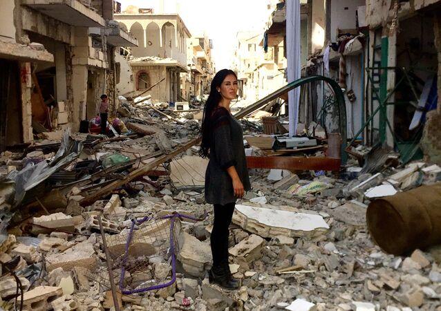 Boliwijska reżyserka i aktorka Carla Ortiz w Syrii